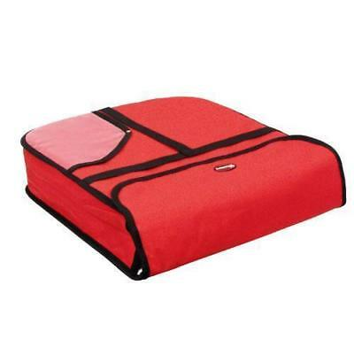 CASE OF 6 - Pizza Delivery Bag Insulated NYLON Holds Two 18 in. x 18 in. x 5 in.