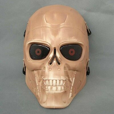 Full Face Protection Paintball CS Airsoft T800 Skull Mask Props Skeleton color
