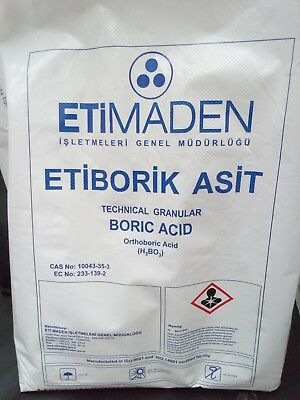 50g to 20kg Boric Acid - Weed and pest control, hydroponics buffer, flea killer