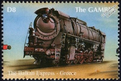 GREEK RAILWAYS (SEK) Class Ma 2-10-2 Balkan Express Train Locomotive Stamp