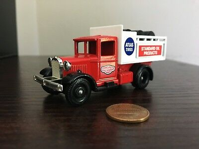 Ledo Promotional Model Collectible Toy Truck Standard Oil Atlas Tires - England