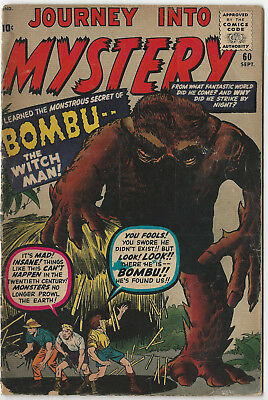 Marvel's JOURNEY INTO MYSTERY #60 - Sept. 1960 - Kirby - Ditko
