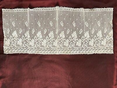 """1910's - 1920's Beautiful ANTIQUE LACE EDGING 13"""" by 5"""" small but perfect"""