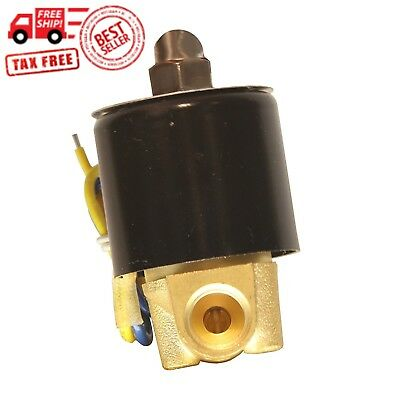 HFS 110v Ac or 12v Dc Electric Solenoid Valve Water Air Gas, Fuels N/c - 1/4quo