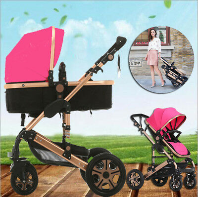 8 in 1 Baby Toddler Stroller Foldable Pram Jogger Buggy With Bassinet Travel