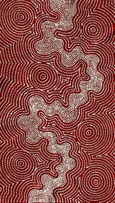 Aboriginal Art Painting by Tammy Matthews 53cm x 94cm