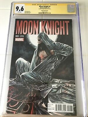 Moon Knight #1 Marco Rudy Variant CGC SS 9.6 Signed by Marco Rudy