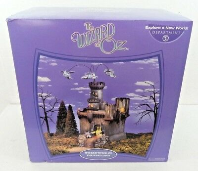 Dept 56 The Wizard of Oz Wicked Witch of the West Castle Electric Monkeys Fly