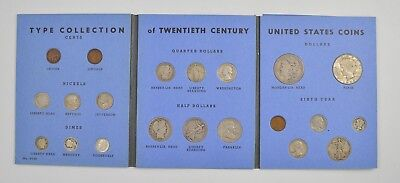 21 Coins - Type Collection of US 20th Century Coins Album - Set *5423