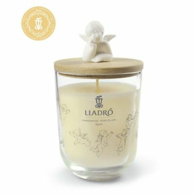 Lladro Candles - Dreaming of You - Gardens of Valencia Scent - Porcelain Angel