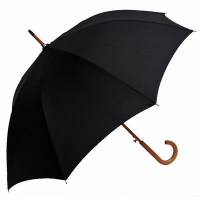 Men's Business Umbrellas~Black Canopy~Wooden Style Handle