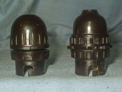 *2 -  Vintage Bakelite Lamp holders*