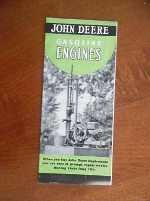 1939 John Deere Gasoline Farm Engine Catalog Brochure Model E Vintage Original