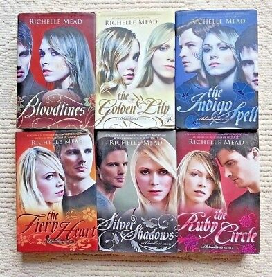 Lot 6 BLOODLINES SERIES #1-6 Richelle Mead Vampire Romance (Complete Set) HC DJ