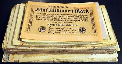 116pcs GERMAN INFLATION LOT circulated banknotes 1922-1923 Weimar Germany