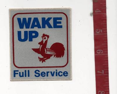 Vintage Gasoline decal Wake up full service regional midwest co.  FREE SHIPPING