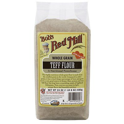 Bob s Red Mill Whole Grain Teff Flour 24 oz 680 g All-Natural, Gluten-Free,