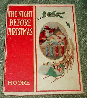 Rare 1908 Moore's Night Before Christmas Neill Art Reilly & Britton, 1St Edition