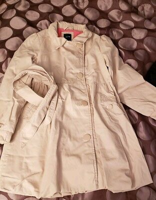 GAP Kids Girls Trench Coat in Khaki Jacket Removable Hood XXL 14 16 Pink Lined