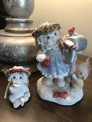 Dreamsicles Figurines collectables RARE Mailbox Cherub and Mini Included