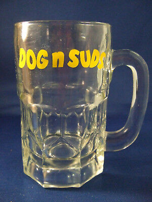 VINTAGE DOG N SUDS 1950's  ROOT BEER MUG - 6 Inches Tall