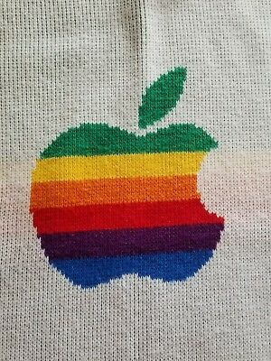 Vintage Apple Computers Logo Blanket - Approx 3 ft x 3.7 ft