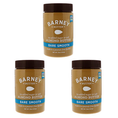 3X Barney Butter Bare Almond Smooth Vegan Gluten Free Healthy Foods Daily Care