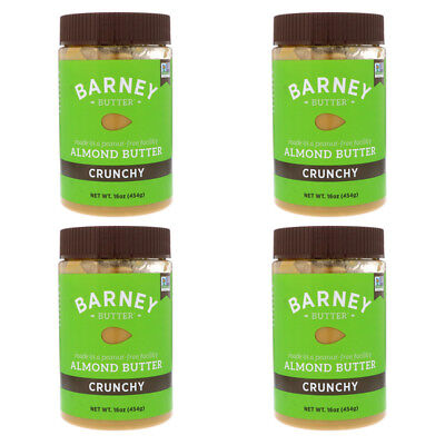 4X Barney Butter Almond Crunchy Peanut & Gluten Free Health Food Daily Care