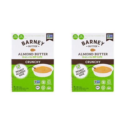2X Barney Butter Almond Grab & Go Dip Cup Crunchy Protein Daily Health Foods