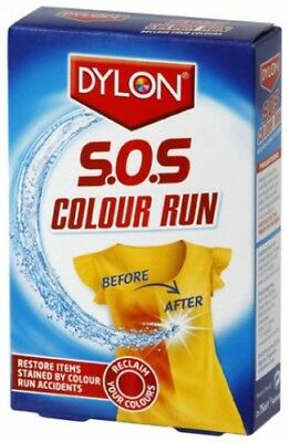 DYLON SOS Colour Run Remover Restore Colour Runs 2 x 75ml Sachets
