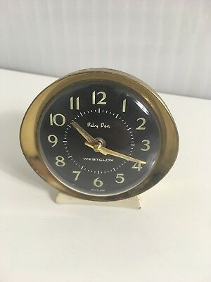 Baby Ben Westclox Made in Scotland vintage bedside clock  alarm travel retro