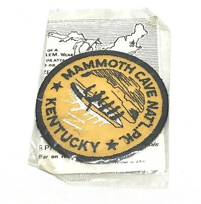 Vintage Mammoth Cave National Park Kentucky Embroidered Patch Trailblazer Emblem