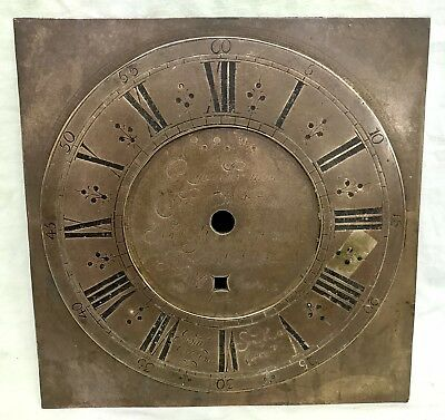 RARE Antique Quaker Longcase Grandfather brass dial John Sanderson, Wigton