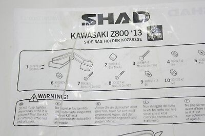 Shad Side Bag Holder for Soft Bags Kawasaki Z 800 K0Z883SE Kofferhalter