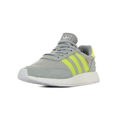 super popular d4328 fedb1 Chaussures Baskets adidas femme Iniki Runner W taille Gris Grise Cuir Lacets