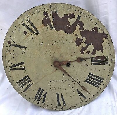 Antique Tavern Mill Clock Dial & Movement H. LAWSON HINDLEY 18 inches diameter