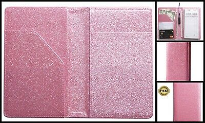 Server Book Organizer For Waitstaff Small Glitter Pink 4.7 X 7.5 Inch Brand New