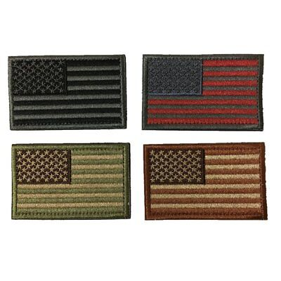 Tactical USA Flag Patches - Multi-colored by TMTC Tactical Gear Four American Fl