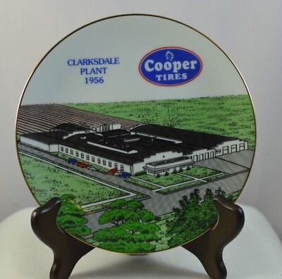 """Cooper Tires Clarksdale Mississippi Plant 1956   7.5"""" Collector Plate 1995"""