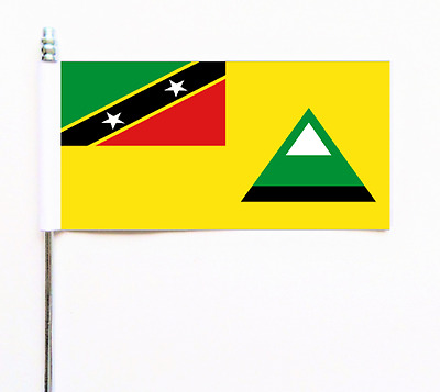 ST KITTS ET NEVIS, Nevis île Ultimate DRAPEAU DE TABLE