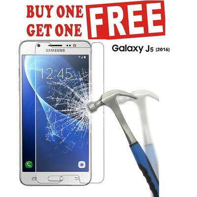 100% Genuine Tempered Glass Screen Protector Cover For Samsung Galaxy J5 2016