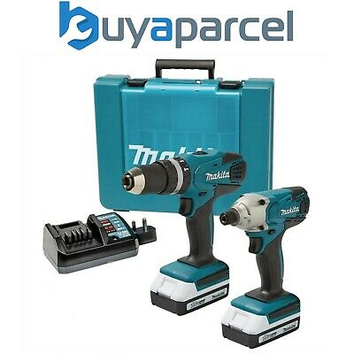 Makita 18v Cordless Li-ion Combi Hammer Drill & Impact Driver Twin Pack Lithium