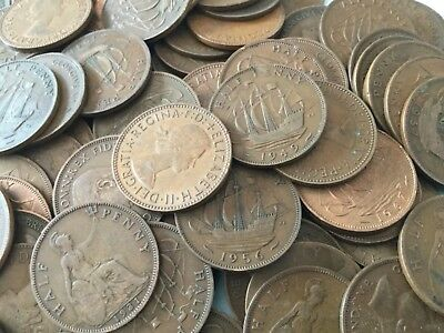 Job lot of British bronze ship half pennies, shove half pennies.choose how many: