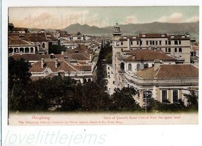 c1905 PPC Hong Kong Queens Road Central fron the Upper Level