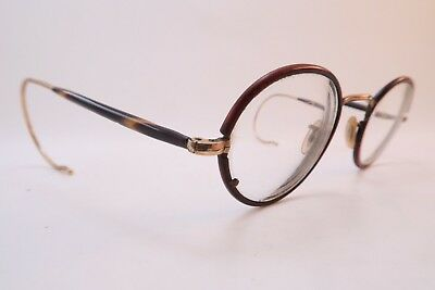 Vintage 30s HCO eyeglasses frames gold filled w/coil arms made in England