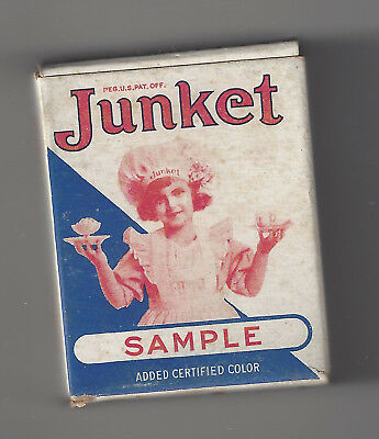 Vintage Small Sample JUNKET Raspberry Flavor Empty Box 1930's??
