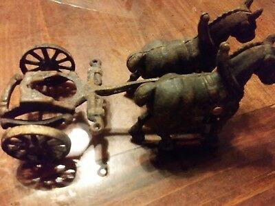 Vintage Coca Cola Cast Iron Horse Horses NO Wagon Coca Cola ANTIQUE