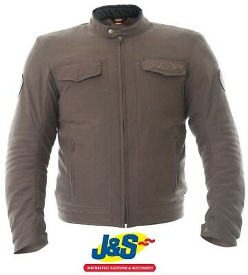 RST Crosby 2296 TT CE Textile Motorcycle Jacket Motorbike Short Sports Brown J&S