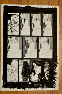 Ho Che Anderson Original Comic Art Johnny Angel 1990 three