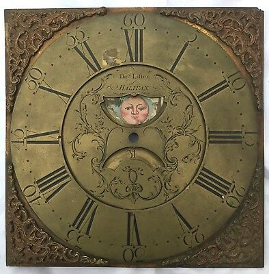 Antique Long Case Grandfather Clock Brass Dial Penny Moon Thomas Lister Halifax